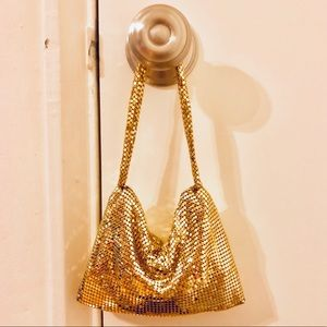 EXPRESS Gold sequin small wrist bag